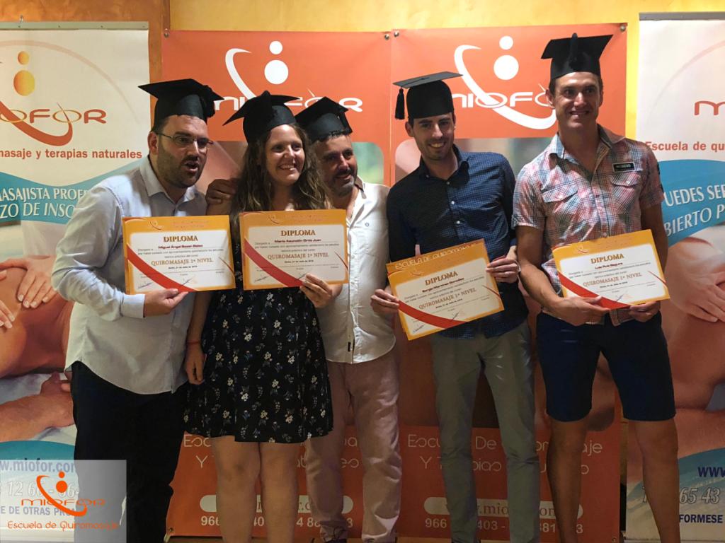 Cena de graduación de Miofor Escuela De Quiromasaje
